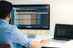 UX UI and Programming development technology. stock photography