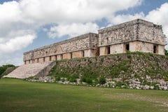 Uxmal玛雅人破坏住处del Gobernador墨西哥 库存图片
