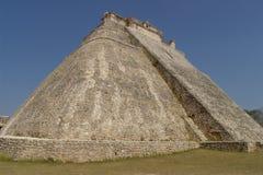 uxmal的金字塔 免版税库存图片