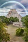uxmal的金字塔 免版税库存照片
