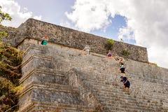 Uxmal, μια αρχαία πόλη της Maya της κλασσικής περιόδου Στοκ Εικόνα
