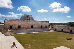 uxmal女修道院的四边形 免版税库存图片