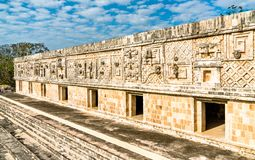 Uxmal, an ancient Maya city of the classical period in present-day Mexico. Uxmal, an ancient Maya city of the classical period. UNESCO world heritage in Mexico stock photography