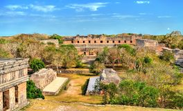 Uxmal, an ancient Maya city of the classical period in present-day Mexico. Uxmal, an ancient Maya city of the classical period. UNESCO world heritage in Mexico stock photo