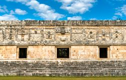Uxmal, an ancient Maya city of the classical period in present-day Mexico. Uxmal, an ancient Maya city of the classical period. UNESCO world heritage in Mexico stock images
