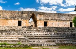 Uxmal, an ancient Maya city of the classical period in present-day Mexico. Uxmal, an ancient Maya city of the classical period. UNESCO world heritage in Mexico stock photos