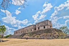Uxmal ancient mayan city, Yucatan, Mexico Stock Images