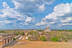Uxmal ancient mayan city, Yucatan, Mexico Royalty Free Stock Image