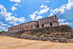 Uxmal ancient mayan city, Yucatan, Mexico Royalty Free Stock Photo
