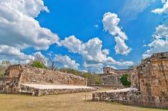 Uxmal ancient mayan city, Yucatan, Mexico Royalty Free Stock Photos