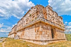 Uxmal ancient mayan city, Yucatan, Mexico Royalty Free Stock Images