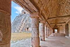 Uxmal ancient mayan city, Yucatan, Mexico Stock Image