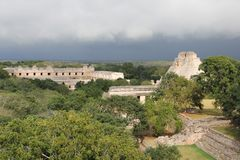 Uxmal ancient Mayan site, Mexico stock photography