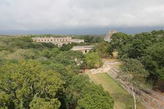 Uxmal ancient Mayan site, Mexico royalty free stock photography