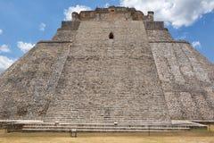Uxmal arkeologisk plats i Yucatan Mexico Arkivbilder