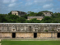 Uxmal Carved Wall Yucatan Mexico Royalty Free Stock Photos