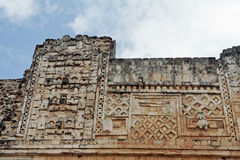 Uxmal Carved Wall Yucatan Mexico Royalty Free Stock Images