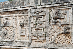 Uxmal Carved Wall Yucatan Mexico Stock Photos
