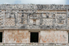 Uxmal Carved Wall Yucatan Mexico stock photography