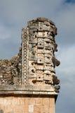 uxmal carvingsmexico sten Royaltyfria Bilder