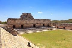 Uxmal fördärvar på den Yucatan halvön Royaltyfria Bilder