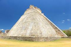 Uxmal fördärvar på den Yucatan halvön Fotografering för Bildbyråer
