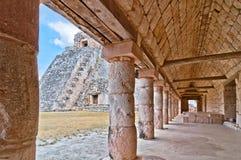 Uxmal forntida mayan stad, Yucatan, Mexico Fotografering för Bildbyråer