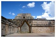Uxmal the fortune teller`s pyramid.Yucatan,México. stock images