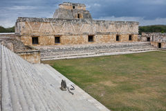 Uxmal - geestelijk centrum van Maya Royalty-vrije Stock Fotografie