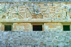 Uxmal Governors Palace. The Governors Palace in Uxmal, the ancient Mayan city Yucatan, Mexico Stock Photo