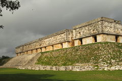 Uxmal III. View of some of the mayan archaeological site of Uxmal, located in yucatan, mexico royalty free stock images