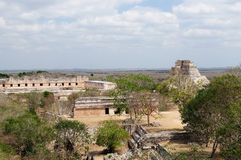 Uxmal Maya ruins in Yucatan, Mexico Royalty Free Stock Photography
