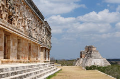Uxmal Maya ruins in Yucatan, Mexico Stock Photos