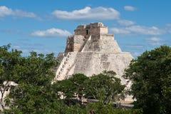 uxmal mayan mexic pyramid Arkivfoto