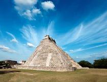 uxmal mayan mexic pyramid Fotografering för Bildbyråer
