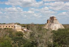 Uxmal mayan ruins Royalty Free Stock Photo