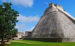 Uxmal mayan ruins Pyramide culture mexico Yucatan Stock Images