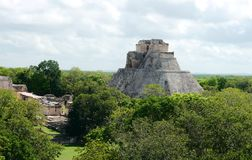 Uxmal mayan ruins Pyramide culture mexico Yucatan Royalty Free Stock Photos