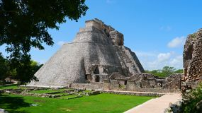 Uxmal mayan ruins Pyramide culture mexico Yucatan Stock Photography