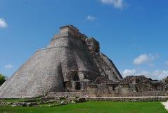 Uxmal mayan ruins Pyramide culture mexico Yucatan. Travel Stock Image