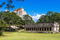 Uxmal, Mexico.  Ancient Maya city. Uxmal is an ancient Maya city of the classical period in present-day Mexico. It is considered one of the most important stock image
