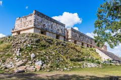 Uxmal, Mexico. Ancient Maya city. Governor`s Palace. Uxmal is an ancient Maya city of the classical period in present-day Mexico. It is considered one of the stock photo