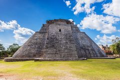 Uxmal, Mexico. Ancient Maya city. Pyramid of the Magician. Uxmal is an ancient Maya city of the classical period in present-day Mexico. It is considered one of royalty free stock image
