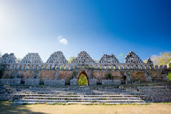 Uxmal, Mexico, House of pigeons. Royalty Free Stock Photos