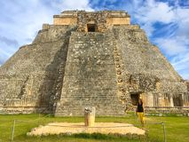 Majestic ruins Maya city in Uxmal,Mexico. Uxmal, Mexico - January 30, 2018: Majestic ruins in Uxmal,Mexico. Uxmal is an ancient Maya city of the classical stock photos