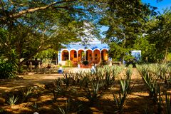 Choco-story Uxmal. UXMAL, MEXICO - NOV 4, 2016: Choco-story Uxmal, a chocolate museum, a touristic attraction in Mexico Stock Photos