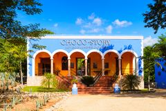 Choco-story Uxmal. UXMAL, MEXICO - NOV 4, 2016: Choco-story Uxmal, a chocolate museum, a touristic attraction in Mexico Stock Photography