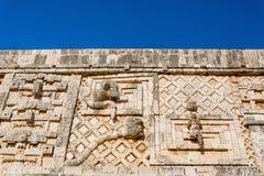Uxmal, Mexico. Nunnery Quadrangle. Cuadrangulo de las monjas royalty free stock photography