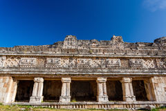 Uxmal, Mexico. Nunnery Quadrangle. Uxmal, Yucatan, Mexico. Details of Nunnery Quadrangle royalty free stock photo