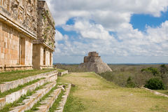 Uxmal Pyramid of the Magician Royalty Free Stock Photo